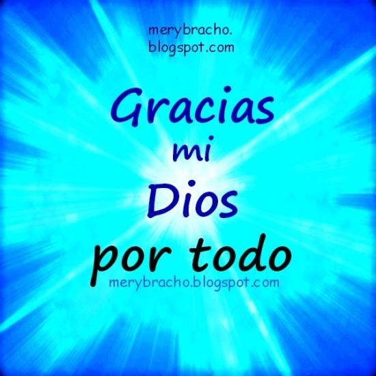 Gracias mi Dios por todo oracion