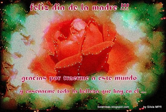 Dia de la Madre fragancia de amor en rosas rojas con mensajes regalos virtuales