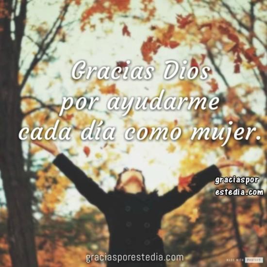 oracion de la Mujer, Gracias Dios por ayudarme