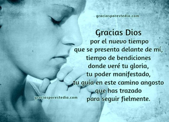 oracion gracias a Dios nuevo año vida cumple