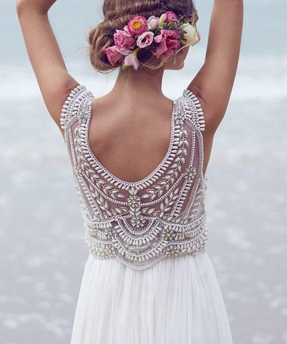 45 vestidos de novias enamoradas y sus tocados