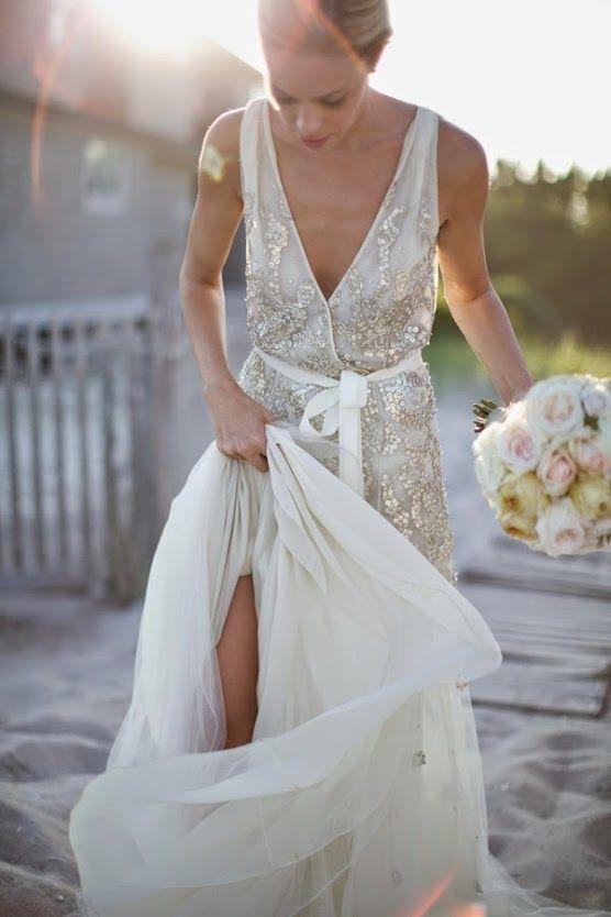 Imagenes de vestidos de novia color plata