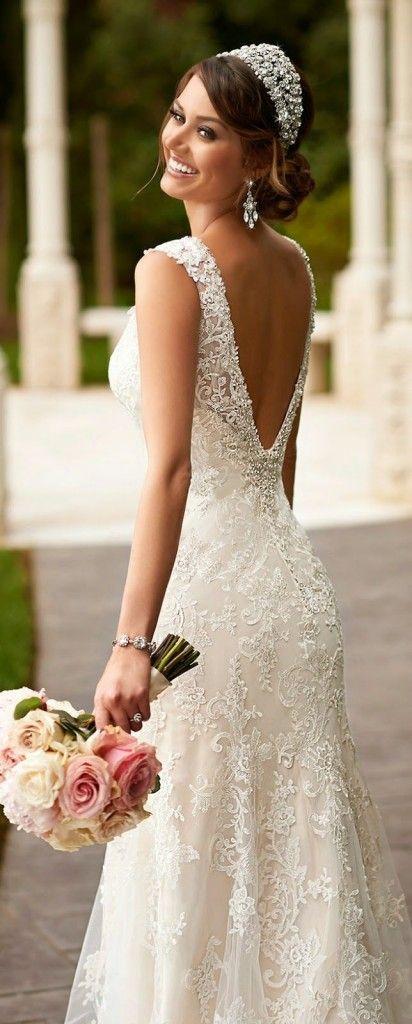 45 vestidos de novias enamoradas, peinados de novia