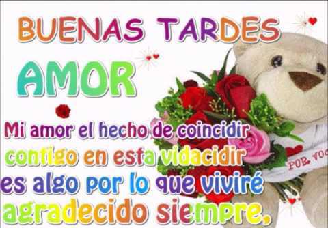 Imágenes De Buenas Tardes Mi Amor Con Frases Románticas Y Tiernas