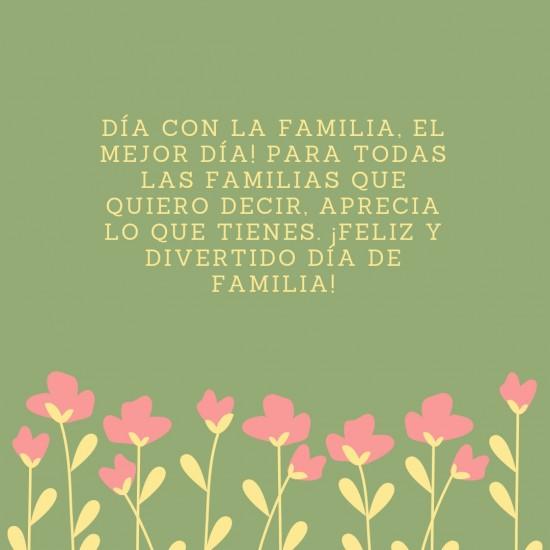 Feliz Día De La Familia Imágenes Frases Y Mensajes De Amor